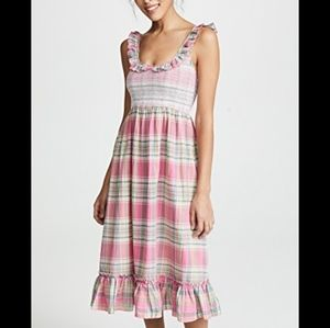 Valencia and Vine Plaid Ruffle Dress